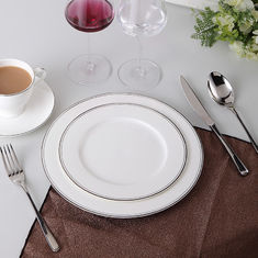"Exquisite 10"" 25.8x1.8cm Gold Rim Bone China Dinnerware Set Cup"